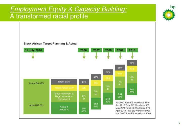 Employment Equity & Capacity Building: