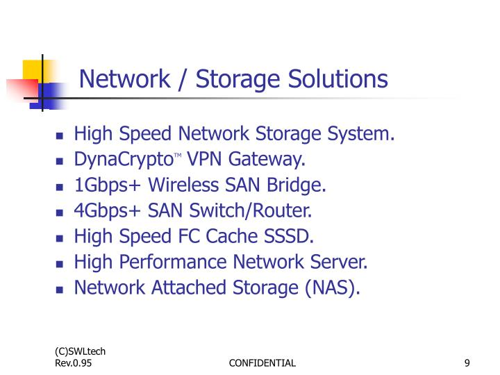 Network / Storage Solutions