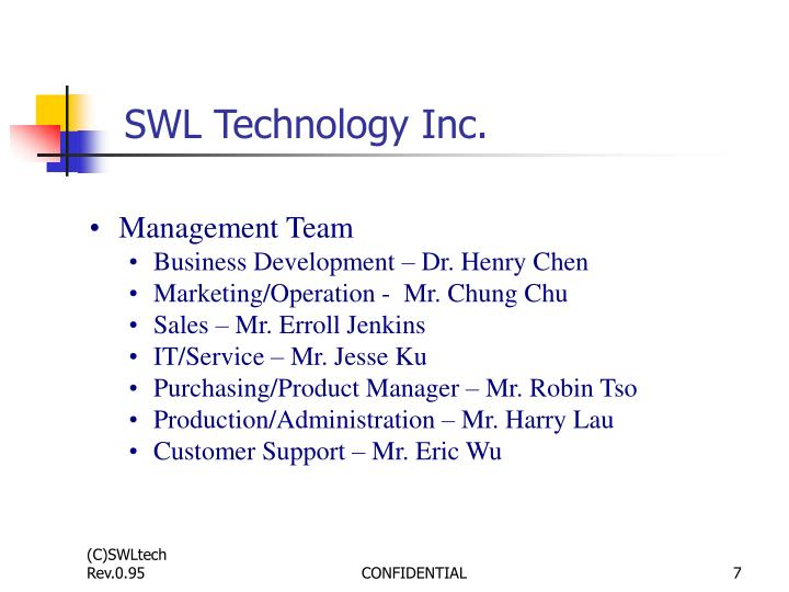 SWL Technology Inc.