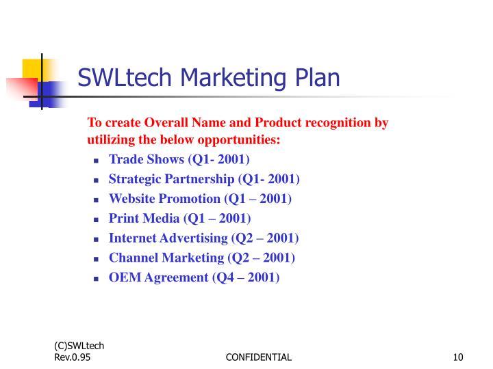 SWLtech Marketing Plan