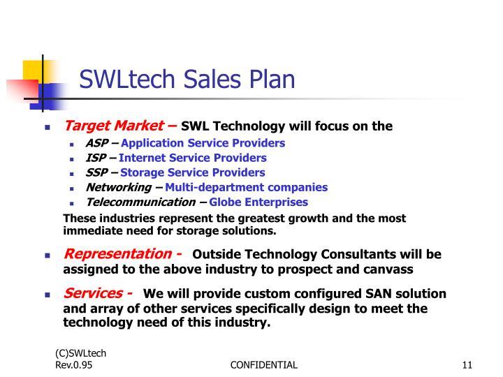 SWLtech Sales Plan