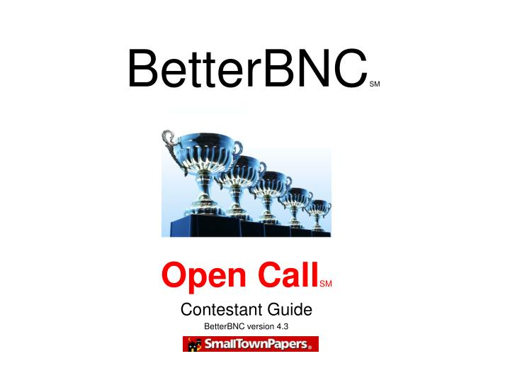 Open call sm contestant guide betterbnc version 4 3
