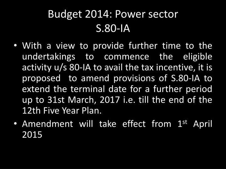 Budget 2014: Power sector