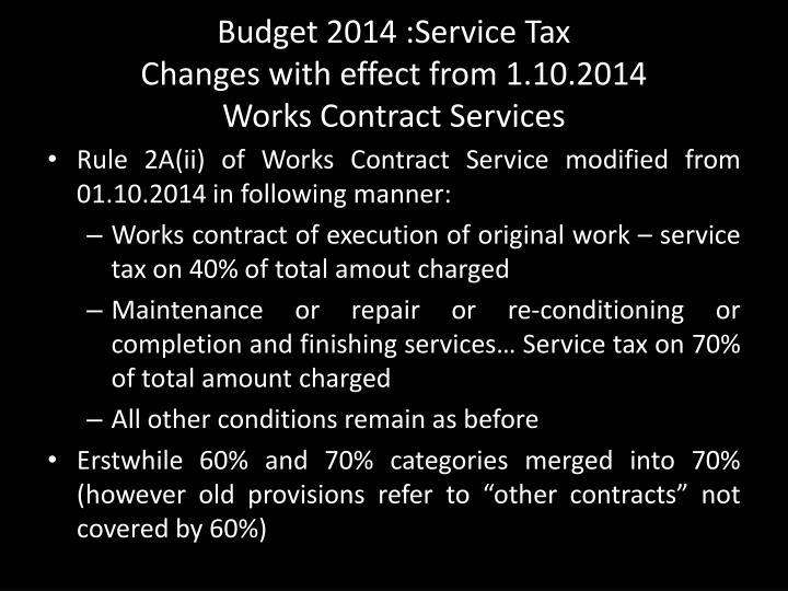 Budget 2014 :Service Tax