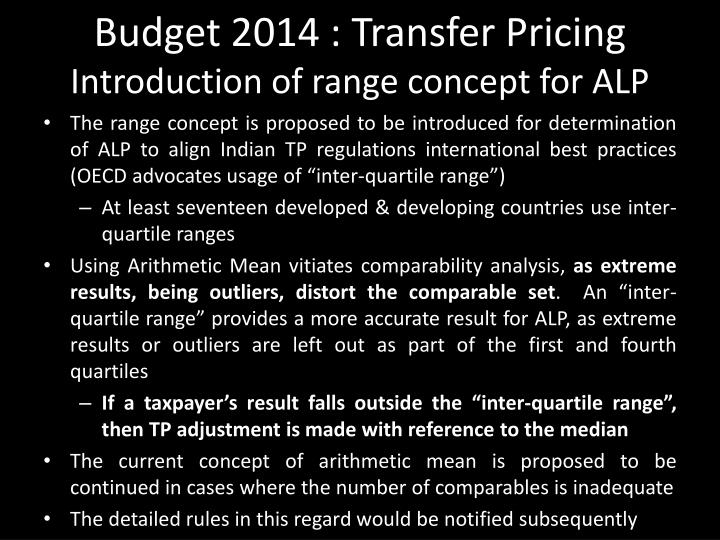 Budget 2014 : Transfer Pricing