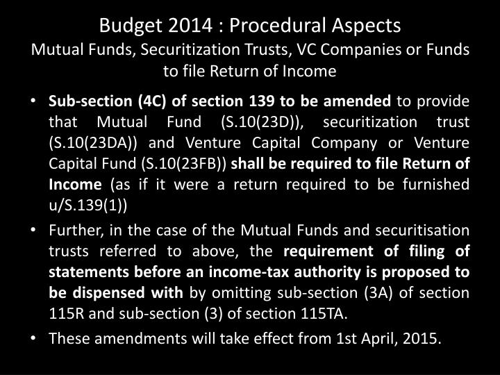 Budget 2014 : Procedural Aspects