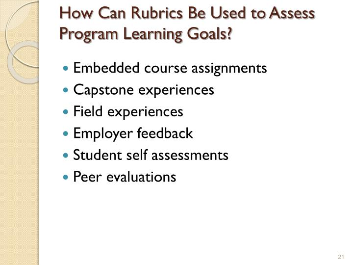 How Can Rubrics Be Used to Assess Program Learning Goals?