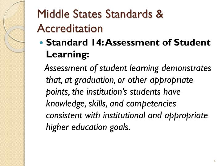 Middle States Standards & Accreditation