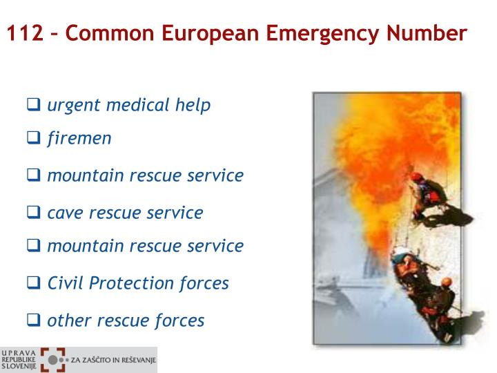 112 – Common European Emergency Number