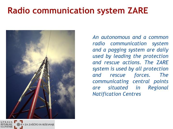 Radio communication system ZARE