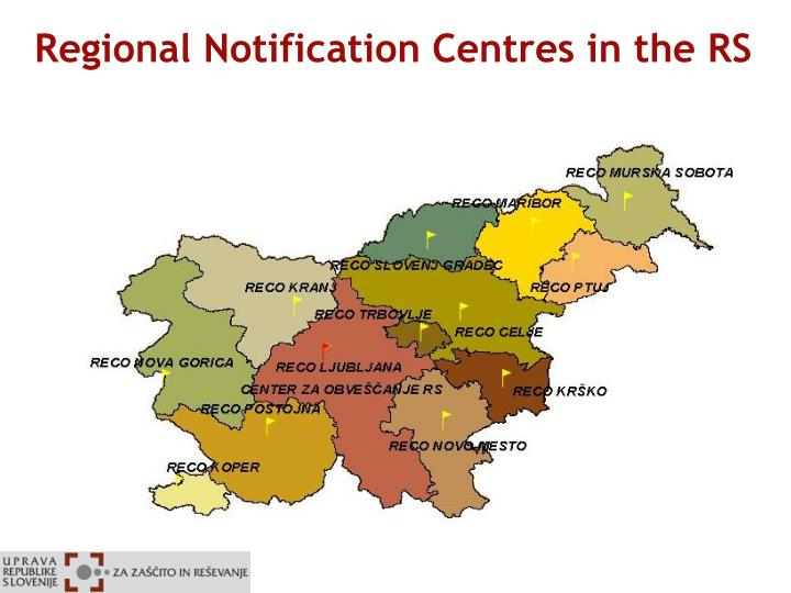 Regional Notification Centres in the RS