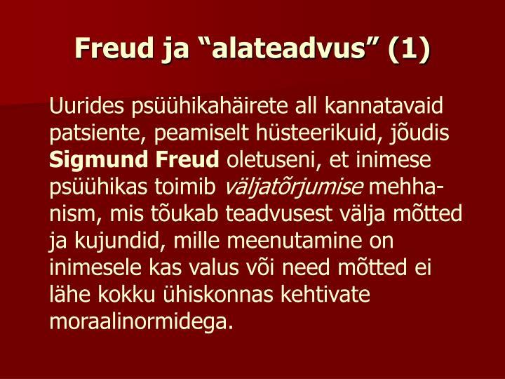 """Freud ja """"alateadvus"""" (1)"""