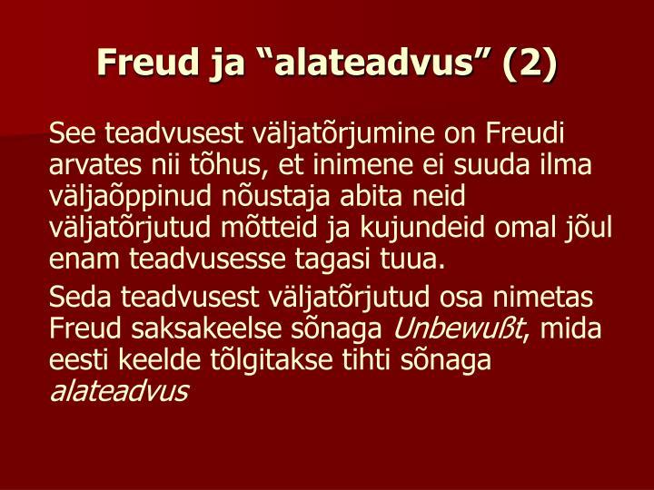 """Freud ja """"alateadvus"""" (2)"""