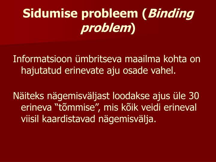 Sidumise probleem (