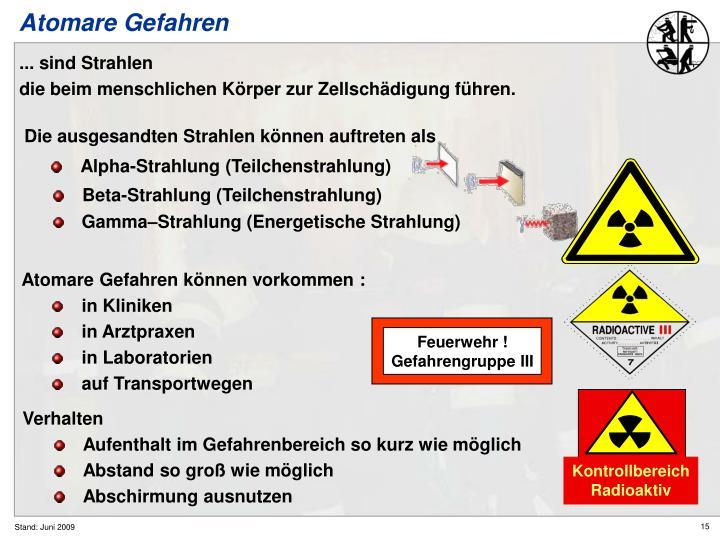Alpha-Strahlung (Teilchenstrahlung)