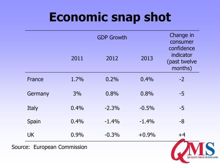 Economic snap shot