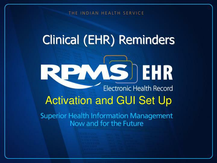 Clinical ehr reminders