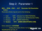 step 2 parameter 1