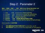 step 2 parameter 2
