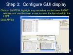 step 3 configure gui display3