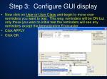 step 3 configure gui display5