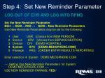 step 4 set new reminder parameter