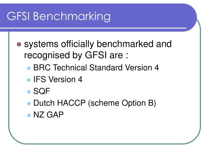 GFSI Benchmarking