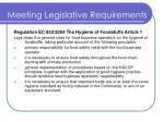 meeting legislative requirements3