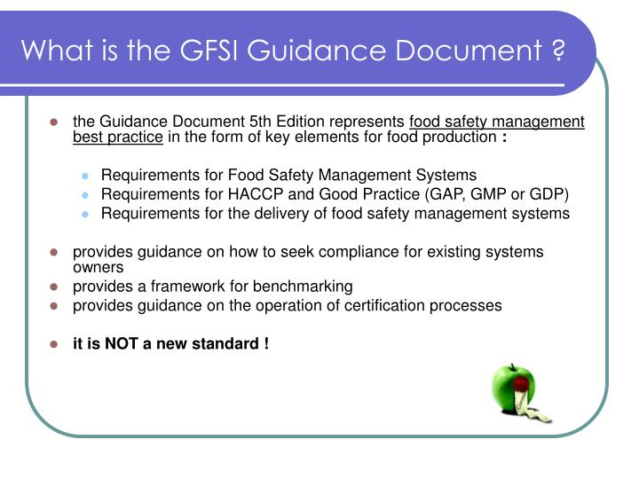 What is the GFSI Guidance Document ?