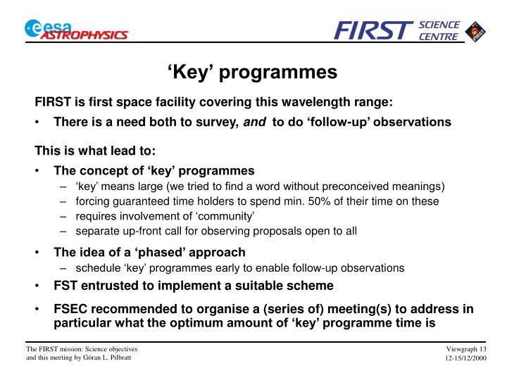 'Key' programmes