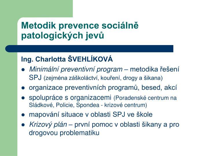 Metodik prevence sociálně patologických jevů