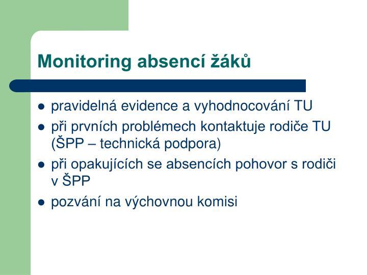 Monitoring absencí žáků