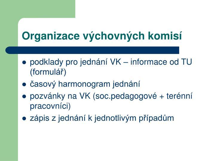 Organizace výchovných komisí