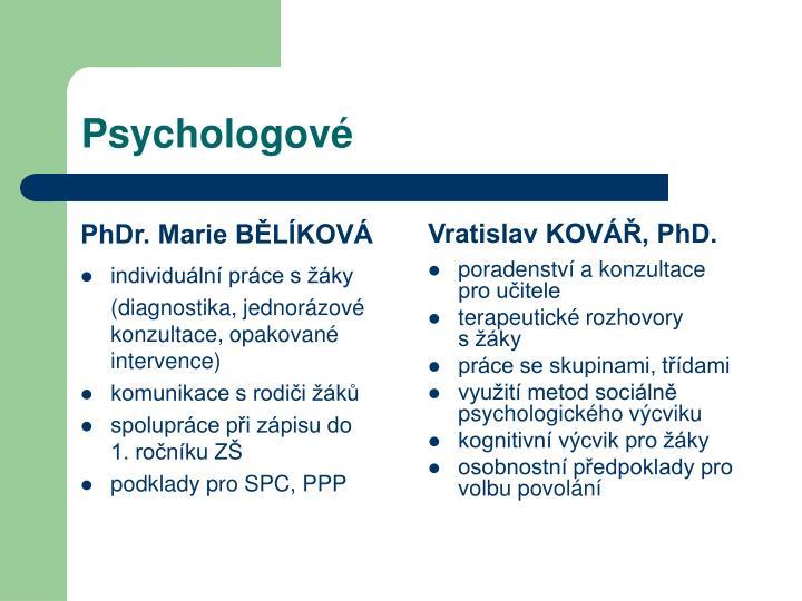 PhDr. Marie BĚLÍKOVÁ