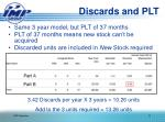 discards and plt1