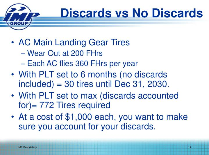 Discards vs No Discards
