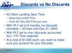discards vs no discards