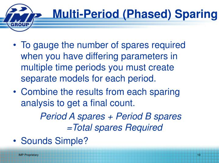Multi-Period (Phased) Sparing