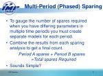 multi period phased sparing1