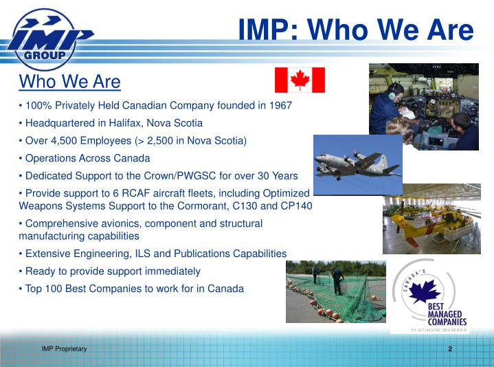 IMP: Who We Are