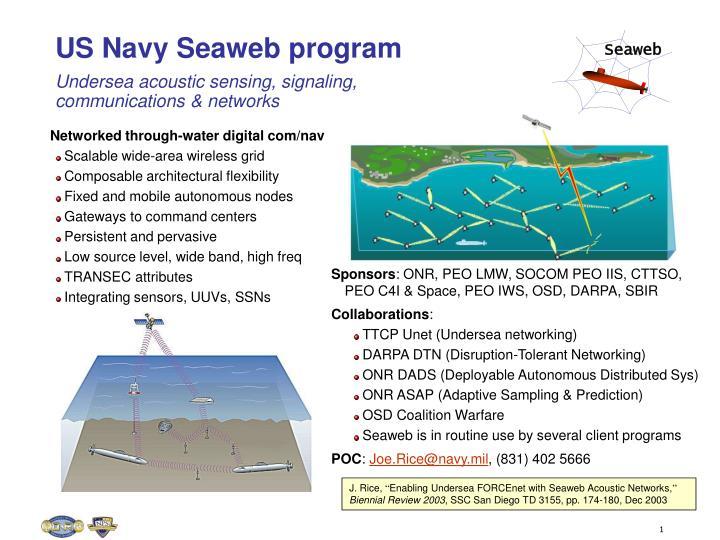 Us Navy Seaweb Programundersea
