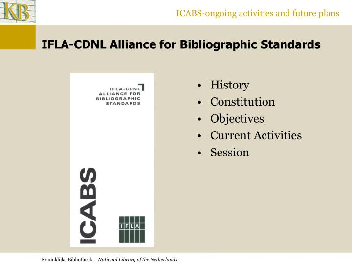 Ifla cdnl alliance for bibliographic standards