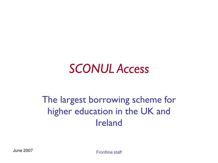Sconul access