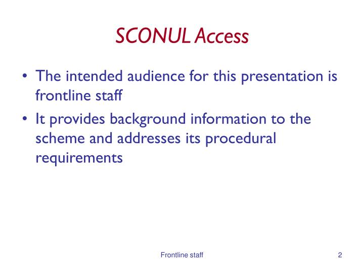 Sconul access1