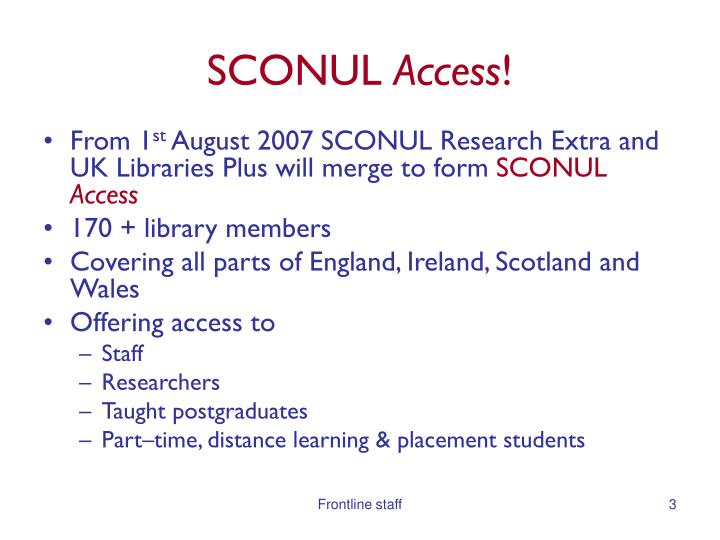 Sconul access2