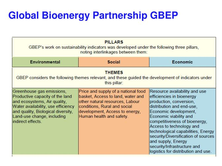 Global Bioenergy Partnership GBEP