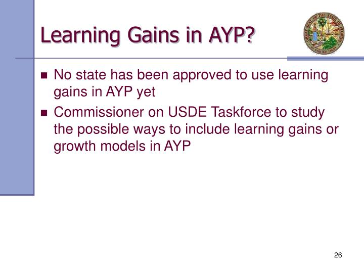 Learning Gains in AYP?