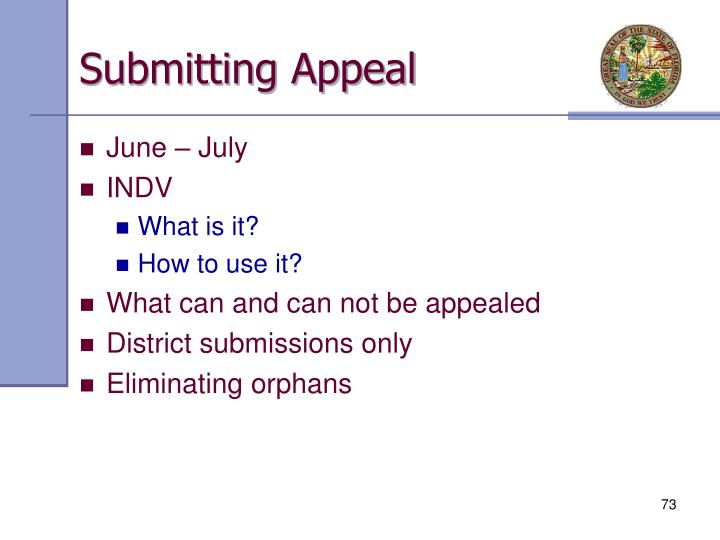 Submitting Appeal