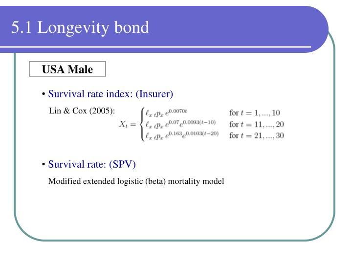 5.1 Longevity bond