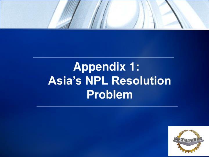 Appendix 1: